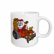 Nelson Deweys Reindeer Powered Santa Dragster Sleigh Mug