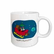 Nelson Dewey - Alien Craft Resembles Santas Sleigh Mug