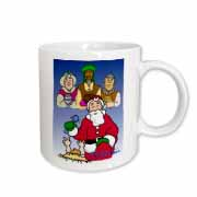 Larry Miller - Tribute to the Baby Jesus by the 3 Wisemen and Santa Mug