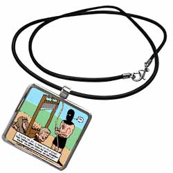 Gallows Humor  Necklace With Pendant