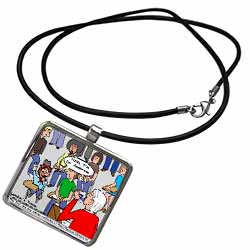 Ventriloquism University  Necklace With Pendant