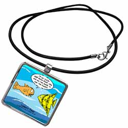Are Fish Really Brain Food Necklace With Pendant