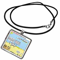 Ten Commandments, Following Directions Necklace With Pendant