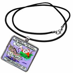 Ira Monroe - Santa and Mule Deer Necklace With Pendant