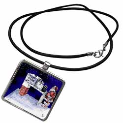 VAL - Santa Security Checkpoint Necklace With Pendant