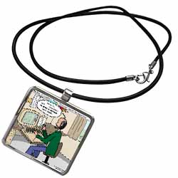 Pressures of Being a Cartoonist Necklace With Pendant
