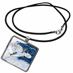 Salmon Spawning Advice Necklace With Pendant