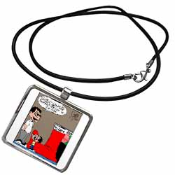 Sean Boley - Clever Child with very Large Christmas Stocking Necklace With Pendant