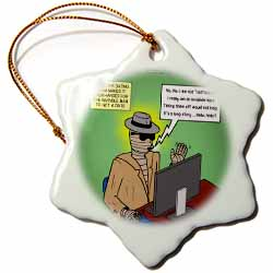 Invisible Man Internet Dating and Web Catfishing Ornament