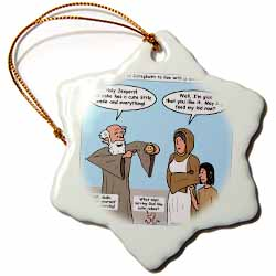 1st Kings 17 8 16 Old Mother Hubbard Bible Elijah widow son cakes Ornament