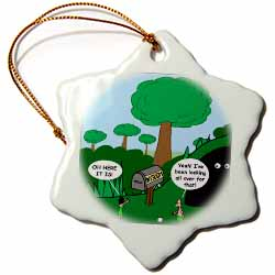 Job 28 20 Looking for Wisdom in All the Wrong Places Bible wisdom golf course mailbox ball Ornament