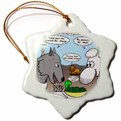 Isaiah 65 17 25 Cheese Tofu Bugers in Paradise Bible earth heaven paradise wolf sheep lamb lion Ornament