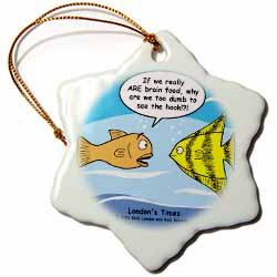 Are Fish Really Brain Food Ornament