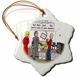 Ten Commandments 5 Honor Your Parents Ornament