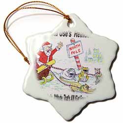 Kevin Edler, Why Santa Uses Reindeer  Ornament