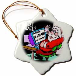 Ira Monroe about Santas E-Mail for Christmas Ornament