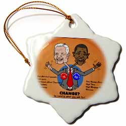 The problems with change ala Carter and Obama Ornament