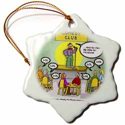 Chat Room Comedy Clubs Gifts Ornament