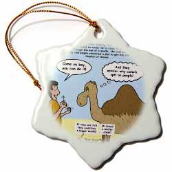 Mark 10-17-31 Stupid Animal Tricks - Camel through the Eye of a Needle Parable Ornament