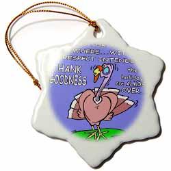 Ira Monroes Grateful Holiday Turkey Ornament