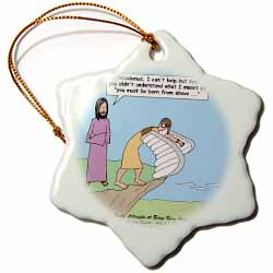 John 3 1 - 17 Jesus talks to Nicodemus about being born again Ornament
