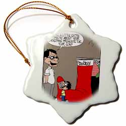 Sean Boley - Clever Child with very Large Christmas Stocking Ornament