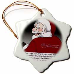 Larry Miller Santas Doberman Surprise Ornament