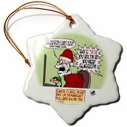 Sean Boley Santa Gets Disrespected by and Elf Ornament