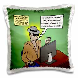 Invisible Man Internet Dating and Web Catfishing Pillow Case