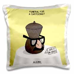 Funeral for a Cartoonist - Groucho Glasses on an Urn Pillow Case