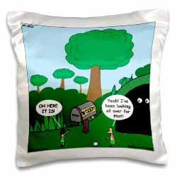 Job 28 20 Looking for Wisdom in All the Wrong Places Bible wisdom golf course mailbox ball Pillow Case