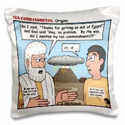 Ten Commandments, Origins Pillow Case