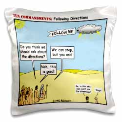 Ten Commandments, Following Directions Pillow Case