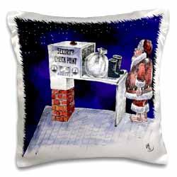 VAL - Santa Security Checkpoint Pillow Case