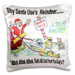 Kevin Edler, Why Santa Uses Reindeer  Pillow Case