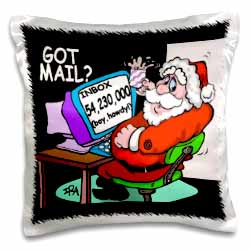 Ira Monroe about Santas E-Mail for Christmas Pillow Case