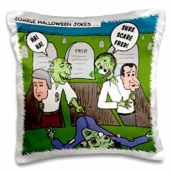 Halloween - Zombie Practical Jokes - Clinton and Nixon Masks Pillow Case