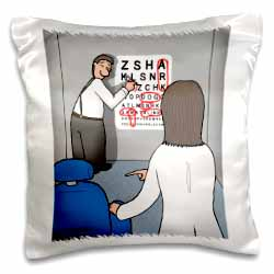 Eye Chart Word Search - Visit to the Eye Doctor Pillow Case