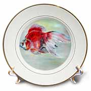 Fish Ryukin Goldfish Plate