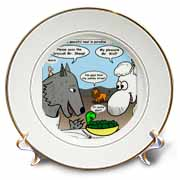 Isaiah 65 17 25 Cheese Tofu Bugers in Paradise Bible earth heaven paradise wolf sheep lamb lion Plate