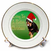 Photography Rottweiler Christmas Plate