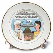 Ten Commandments, Origins Plate