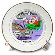 Ira Monroe - Santa and Mule Deer Plate