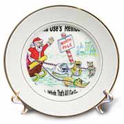 Kevin Edler, Why Santa Uses Reindeer  Plate