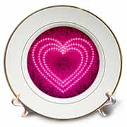 Shiny Pink Heart Plate