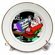 Ira Monroe about Santas E-Mail for Christmas Plate