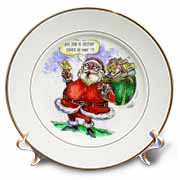 VAL Cartoon about Gift Card Giving for Christmas Plate