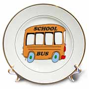 Orange School Bus Plate