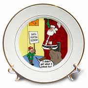 Dale Hunt - Santa Contributes to the Bad Economy Plate