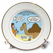 Mark 10-17-31 Stupid Animal Tricks - Camel through the Eye of a Needle Parable Plate